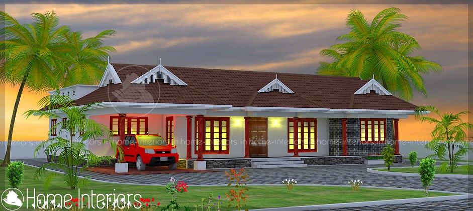 2200 Square Feet Single Floor Traditional Home Design