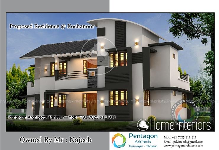 Modern Kerala House Design 2016 At 2980 Sq Ft: 850 Sqft 2bhk Modern Style House 2015