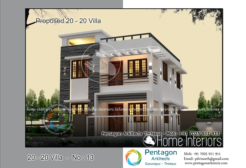 3bhk Contemporary Home Part - 20: 1382 Square Feet 3 BHK Contemporary 20-20 Home Villa 13 Design