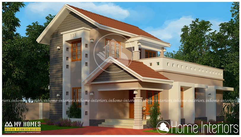 1500 square feet double floor modern traditional home design. beautiful ideas. Home Design Ideas