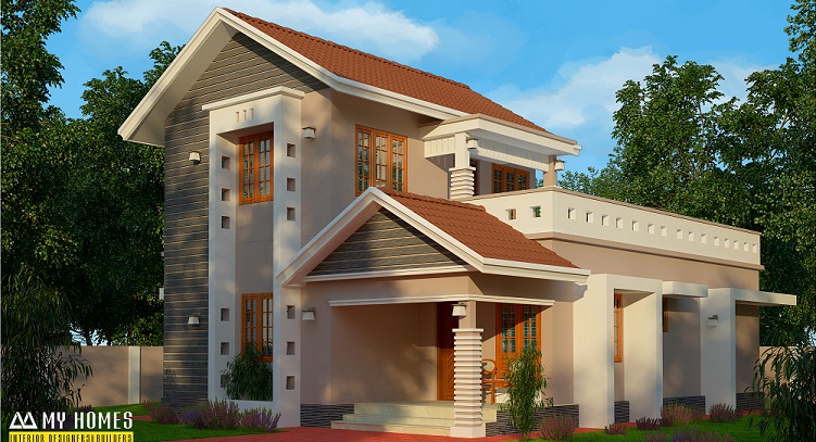 1500 Square Feet Double Floor Modern Traditional Home Design