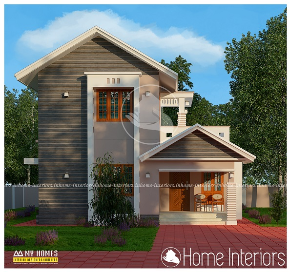 1500 square feet double floor modern traditional home design for 1500 sq ft modern house