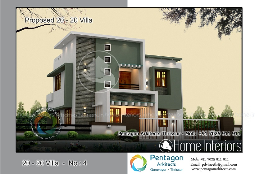 1529 square feet 4 bhk contemporary 20 20 home villa 4 design for 4 bhk villa interior design