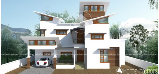 2538 Square Feet Double Floor Contemporary Home Design