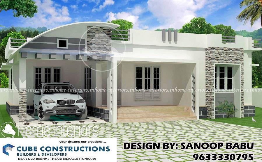 3bhk Contemporary Home Part - 34: 1800 Square Feet 3 BHK Single Floor Home Contemporary Design