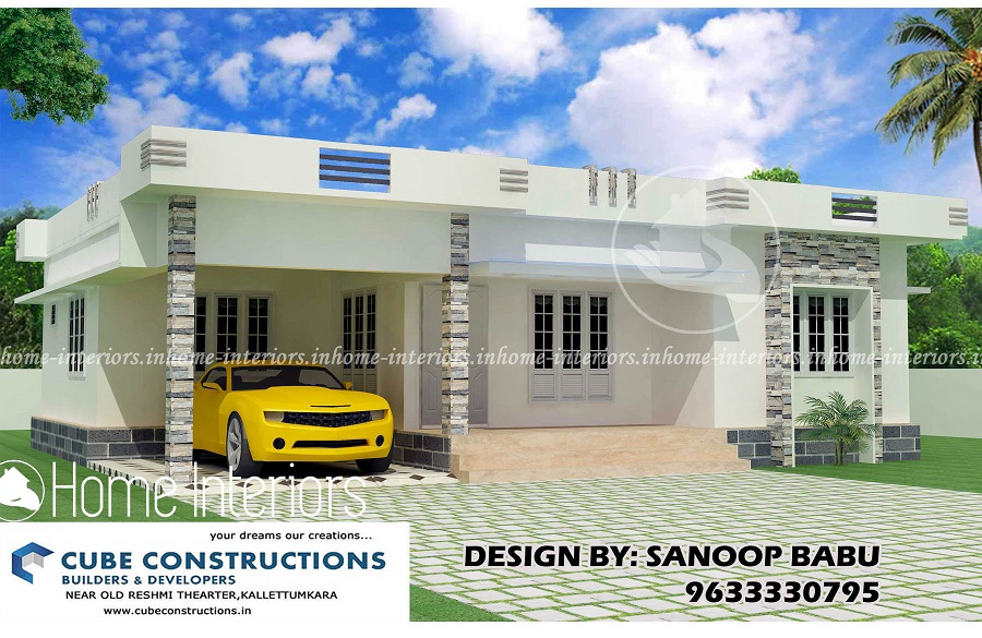 Marvelous 3bhk Contemporary Home Part - 13: 1800 Square Feet 3 BHK Single Floor Home Contemporary Design