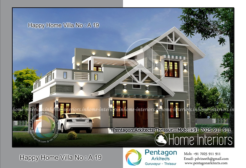 1967 square feet 4 bhk contemporary happy home villa 19 design for 4 bhk villa interior design