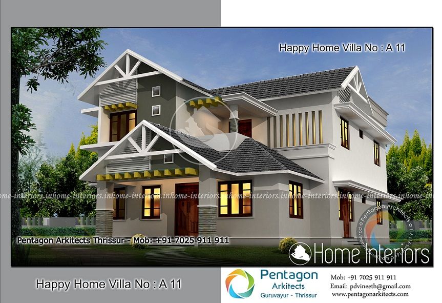 2625 square feet 4 bhk traditional happy home villa 11 design for 4 bhk villa interior design
