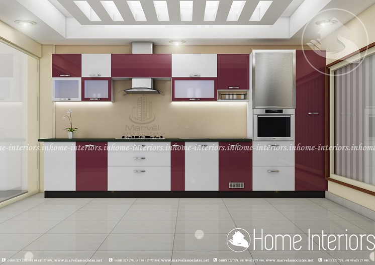 modular kitchen ideas in kerala. stainless steel finish aluminium