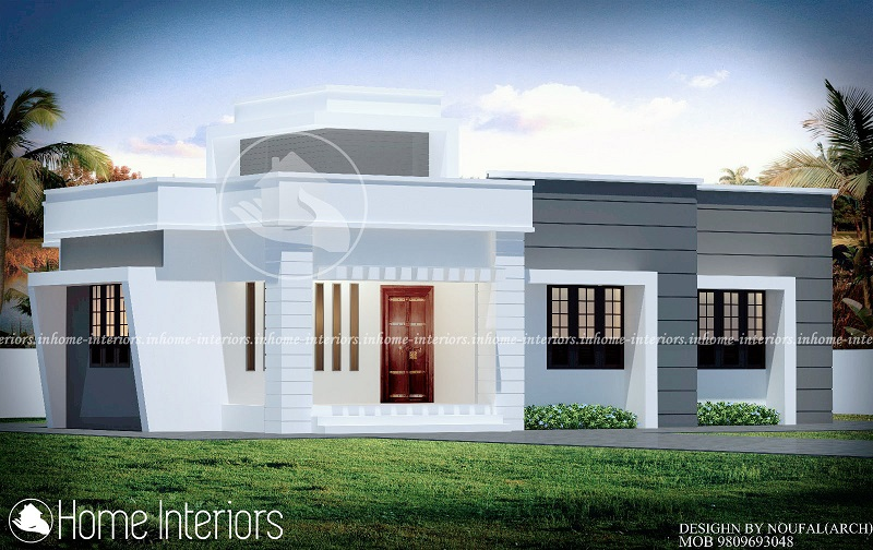 1000 square feet single floor contemporary home design for Kerala home design 1000 sq feet