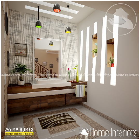 Fascinating Contemporary Budget Home Wash Room Interior Design