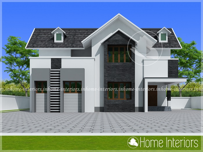 1670 Square Feet Double Floor Contemporary Home Design