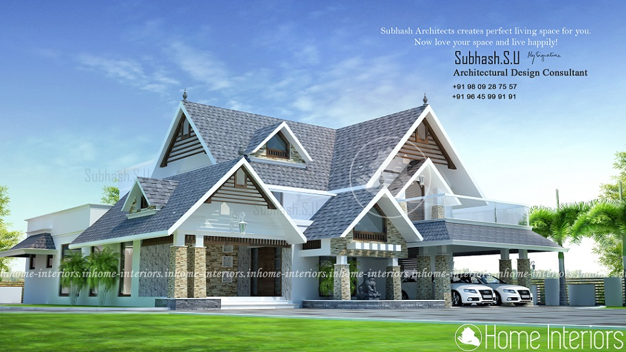 3000 Square Feet Double Floor Modern Traditional Home Design