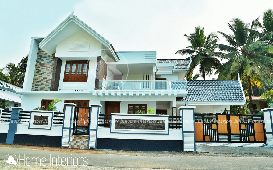 3000 square feet double floor contemporary home design for 3000 sq ft house plans kerala style
