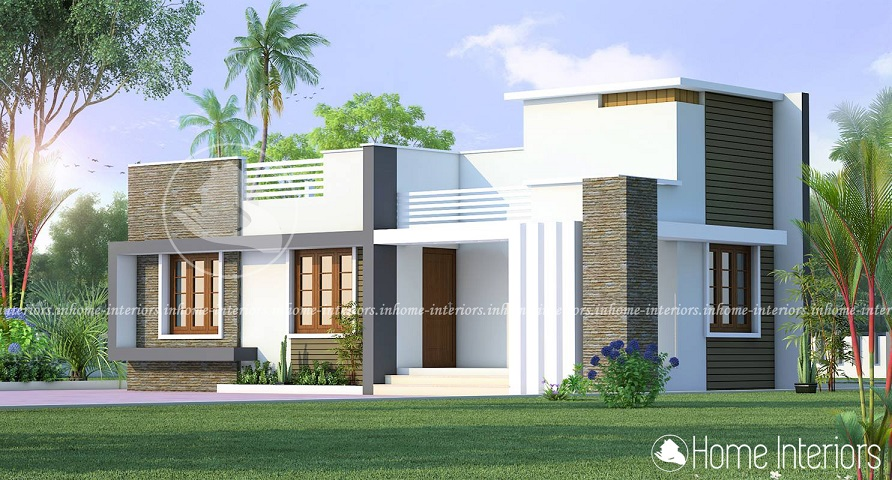 677 square feet single floor contemporary home design for Single floor modern house plans