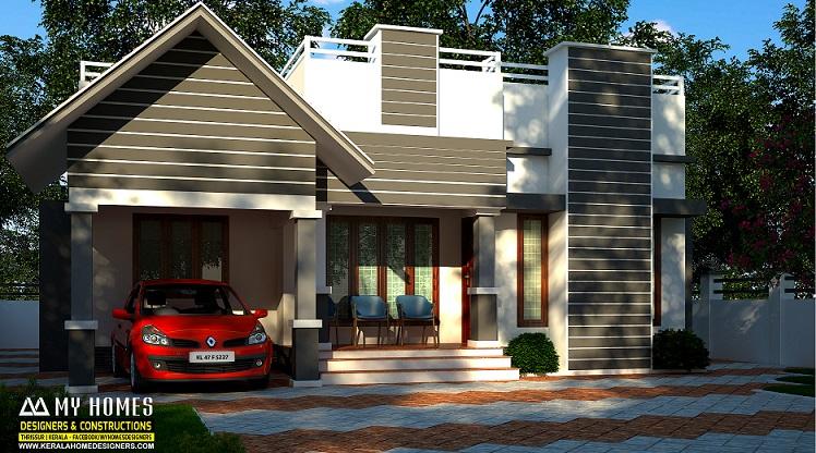 900 Square Feet Single Floor Contemporary Home Design