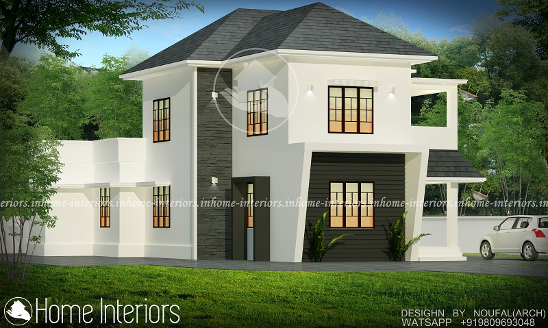 1500 square feet double floor 4 bhk contemporary home design for 1500 sq ft modern house
