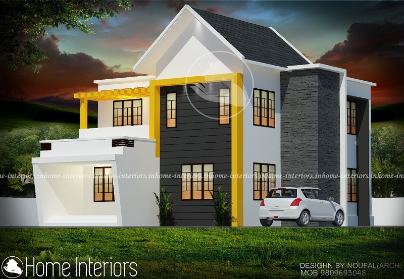 1600 square feet double floor contemporary home design for 1600 square feet house