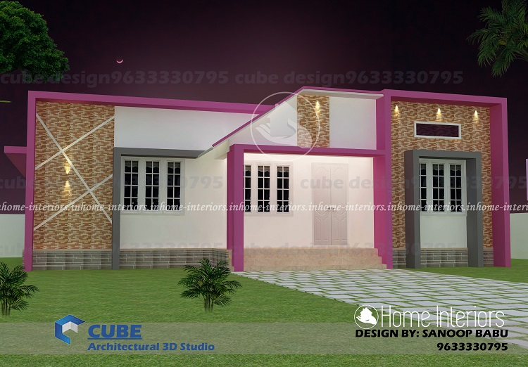 800 square feet single floor contemporary home design for 800 sq ft house plans kerala style