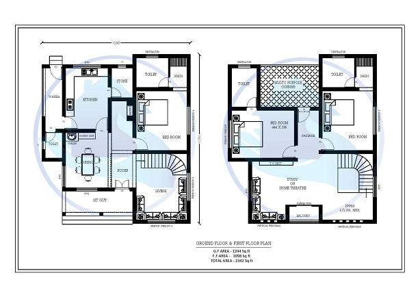 2342 Square Feet Double Floor Contemporary Home Design