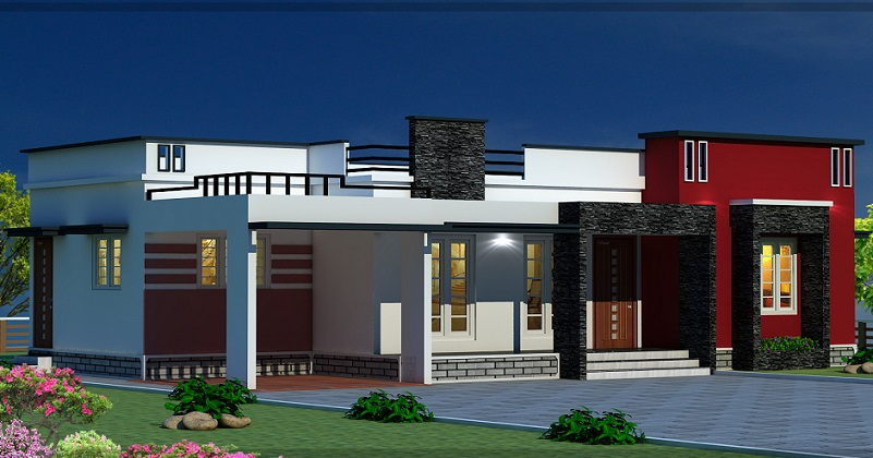1200 square feet single floor contemporary home designs