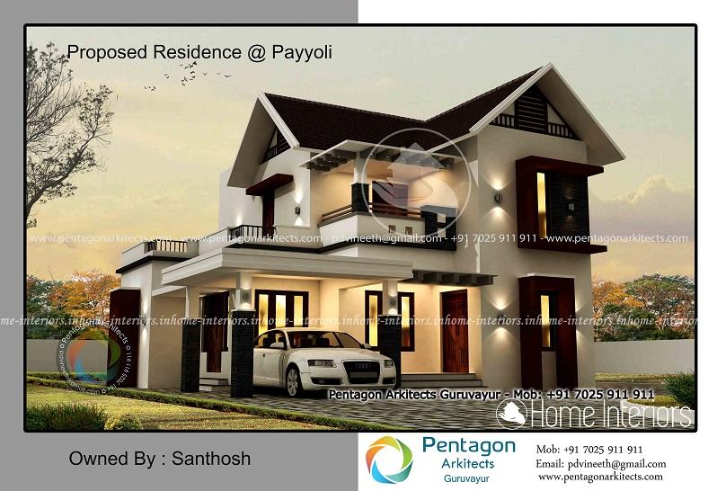 1859 square feet double floor contemporary home design - Home Design Kerala
