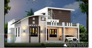 1595 Square Feet Double Floor Contemporary Home Design