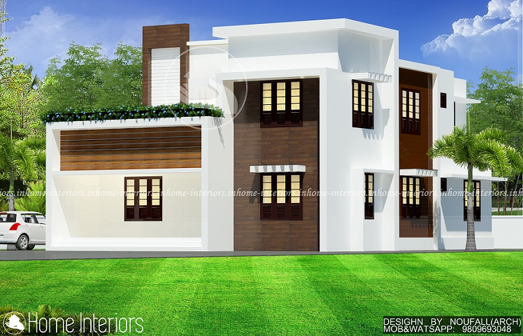 2000 Square Feet Double Floor 4 Bhk Contemporary Home Design