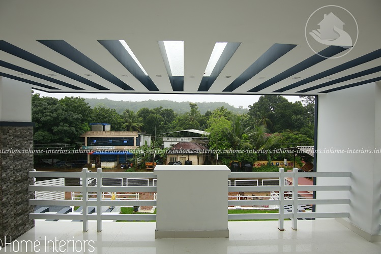 2260 square feet double floor contemporary home design for Car porch design in kerala