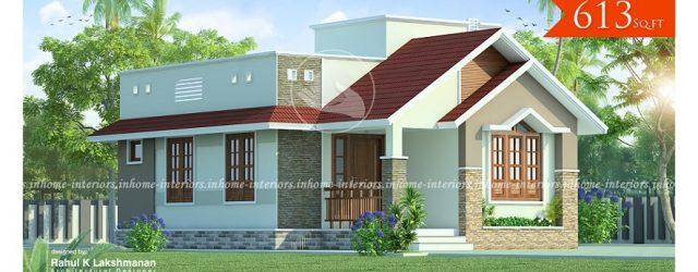 613 square feet single floor modern low budget home design - Home Design Kerala