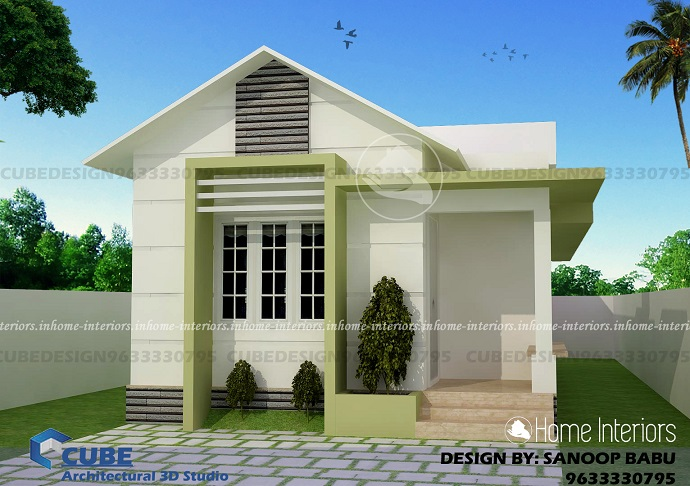 Lovely Home Design 700 Part - 6: 700 Square Feet Single Floor Contemporary Home Design