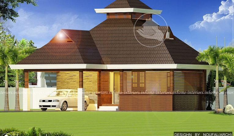 800 square feet single floor modern traditional home design for 800 sq ft house plans kerala style