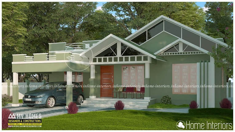 1500 square feet single floor low cost modern home design for 1500 sq ft modern house