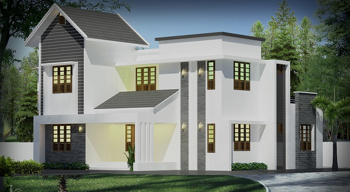 1940 square feet double floor contemporary home design for 1940s home plans
