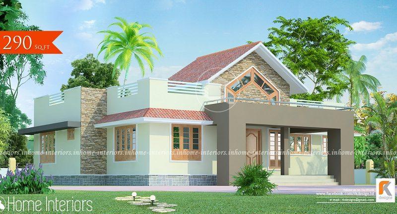 1290 Square Feet Single Floor Contemporary Home Design