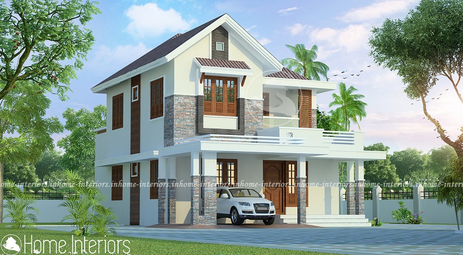 1427 square feet double floor low budget home design