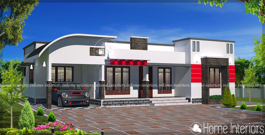 3bhk Contemporary Home Part - 24: 1400 Square Feet Single Floor 3 BHK Modern Home Design