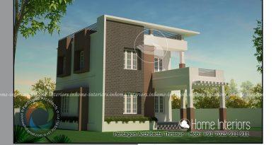 1447 Square Feet Double Floor Contemporary Home Design