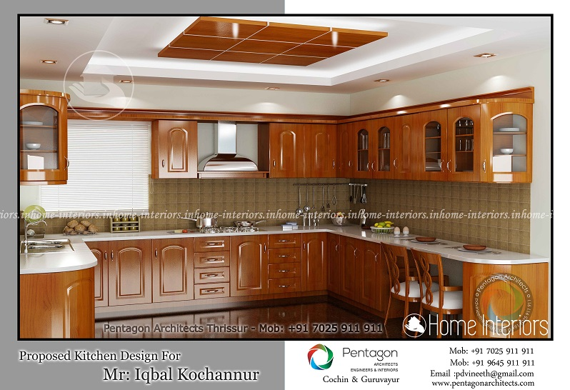 Excellent contemporary home modular kitchen interior design for Modern kitchen designs in kerala