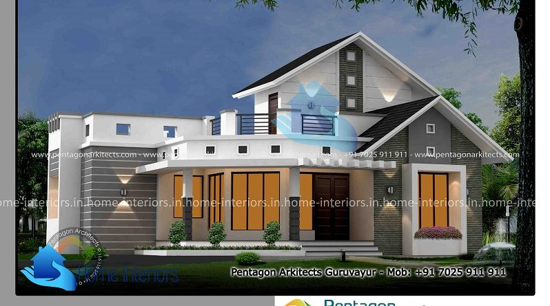 1374 Square Feet Single Floor Contemporary Home Design 2 BEDROOM Archives  Interiors