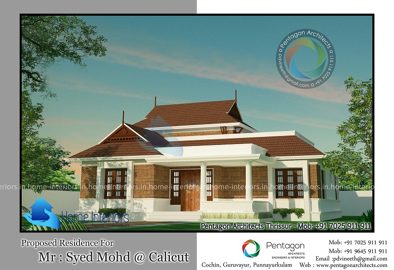 1650 Square Feet Single Floor Traditional Home Design
