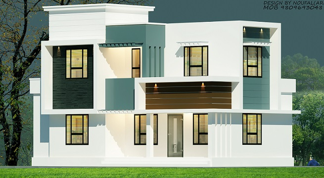 1450 Square Feet Double Floor Modern Budget Home Design