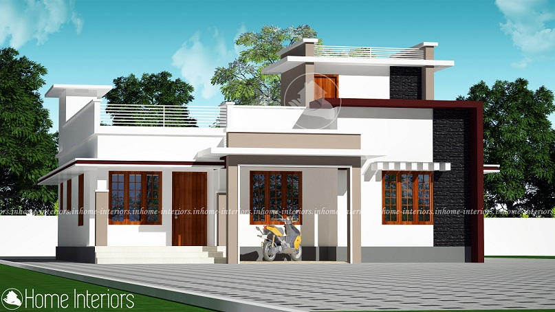 1500 square feet single floor contemporary home design for Modern house plans 1500 square feet
