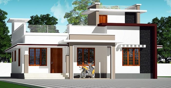 1500 Square Feet Single Floor Contemporary Home Design