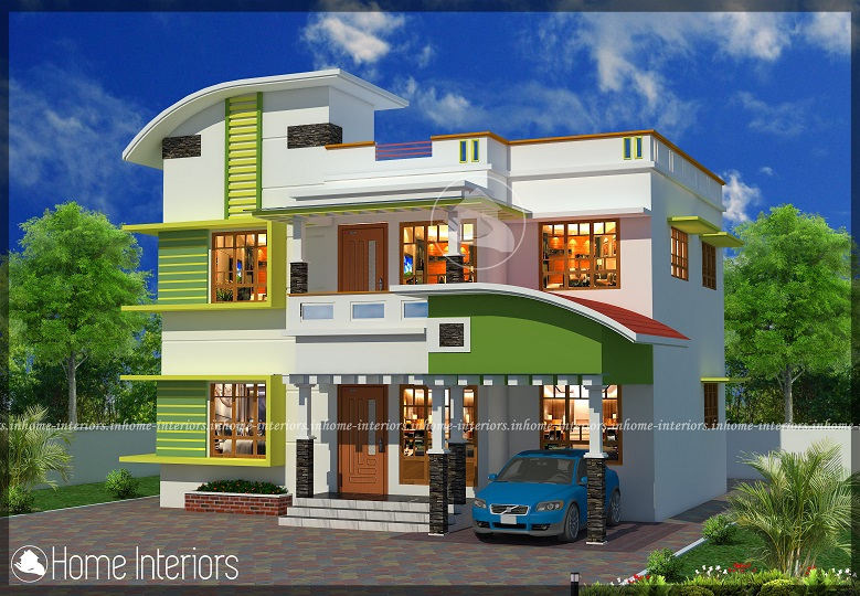 1800 square feet double floor 4 bhk modern home design for 1800 sf home plans