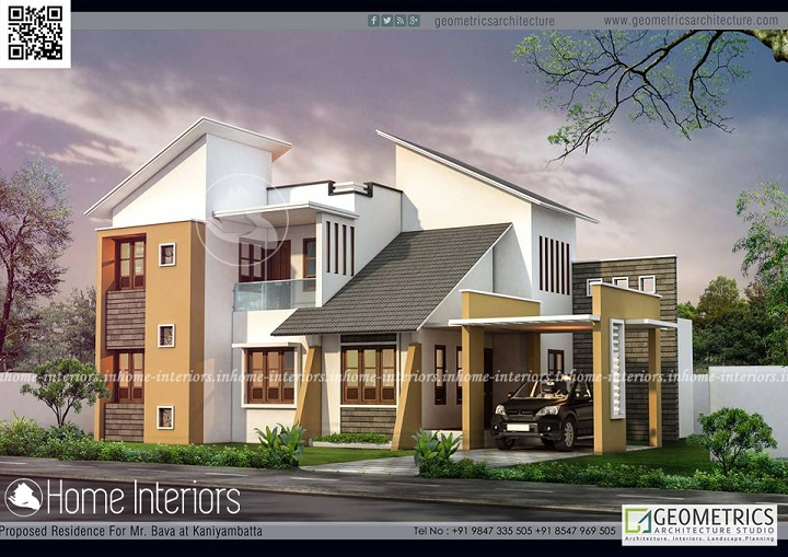 2498 Square Feet Double Floor Contemporary Home Design