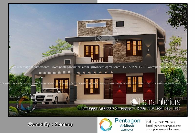 Home Design Kerala 2018 Part - 22: 2199 Square Feet Double Floor Contemporary Home Design