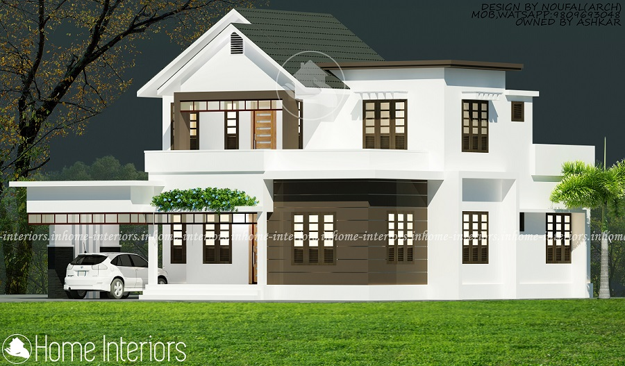2200 Square Feet 4 Bhk Double Floor Modern Home Designs