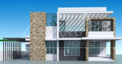 2500 square feet 3 bhk contemporary renovated home design - Interior House Designs In Kerala