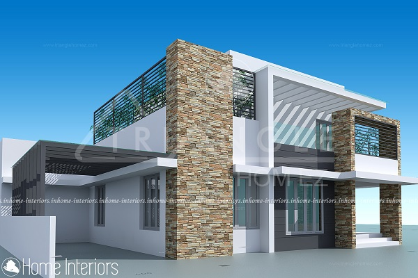 2500 square feet 3 bhk contemporary renovated home design for Modern home plans 2500 sq ft